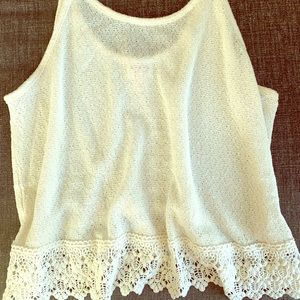 Mission lace top